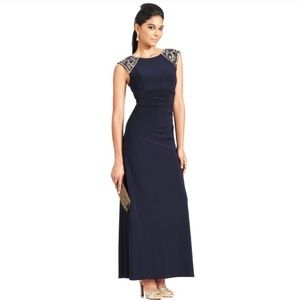 Xscape blue gown